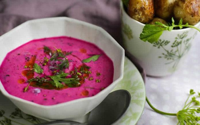 Gaspacho légumes d'été et betteraves