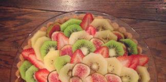 Tarte au chocolat blanc au kiwi et fraises au thermomix