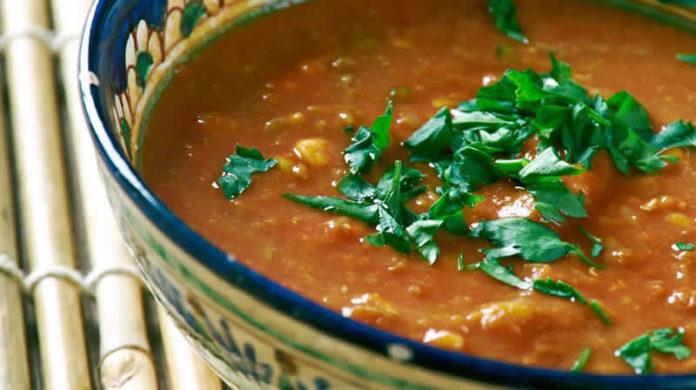 Crème de lentilles corail curry coco