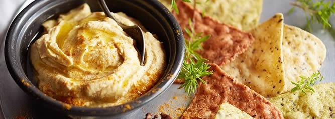 Purée de pois chiches à la crème de sésame