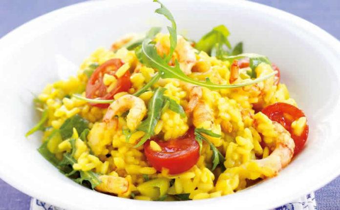 Risotto crevettes et curry
