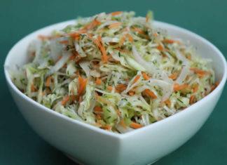 salade de chou blanc et carottes