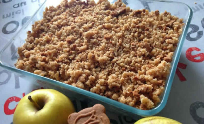 tarte crumble pomme spéculoos