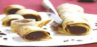 Roulés de crêpe au chocolat au thermomix