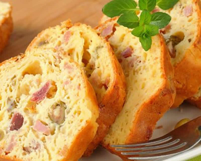 Cake jambon et olives au thermomix