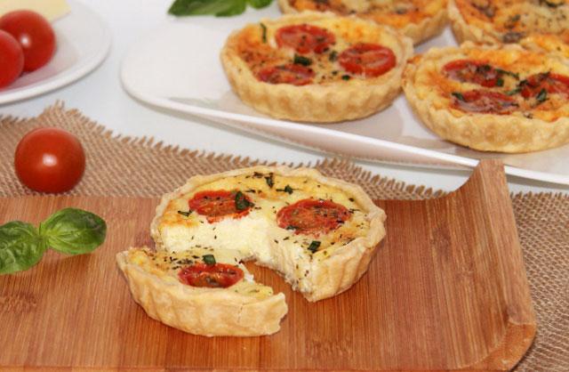 Quiches aux tomates cerises et fromage au Thermomix