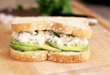 Sandwich au thon au fromage bleu W Watchers