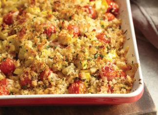 Crumble salé au courgette tomate et chorizo au thermomix