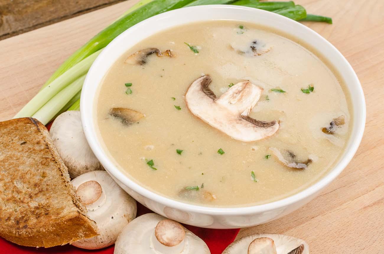 Velouté de champignons au thermomix - Soupes Thermomix