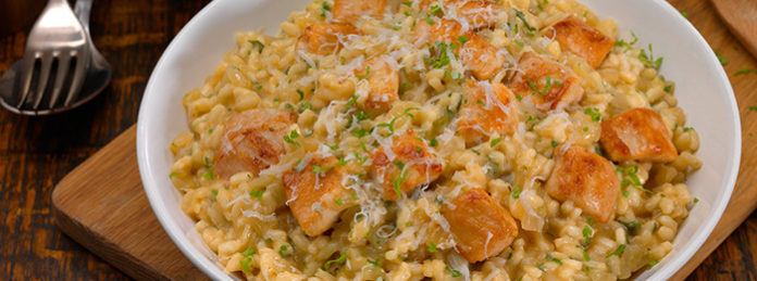 Risotto poulet au thermomix.