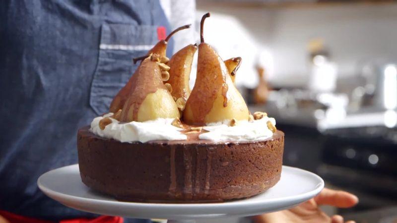 Cake Poires Chocolat au thermomix