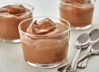 Mousse au chocolat et banane ww