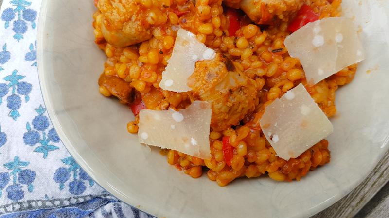 Risotto au poulet et tomate au thermomix