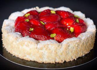 Dacquoise aux fraises au Thermomix