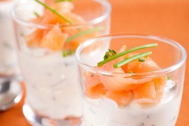 Verrines saumon fumé mascarpone au Thermomix