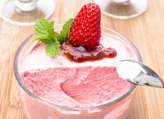 Mousse à la fraise au thermomix