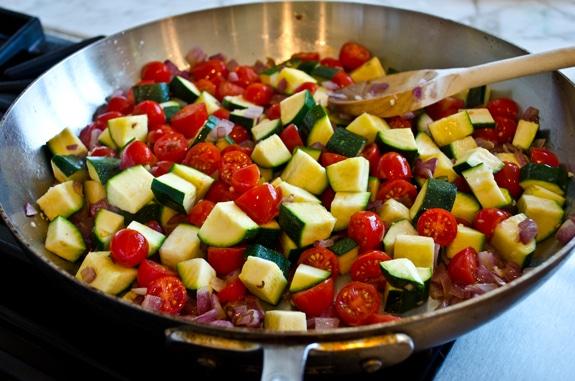 Poêlée de Poulet aux Tomates Cerises et Courgettes WW