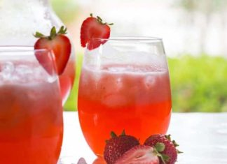Cocktail de Vodka à la fraise au thermomix