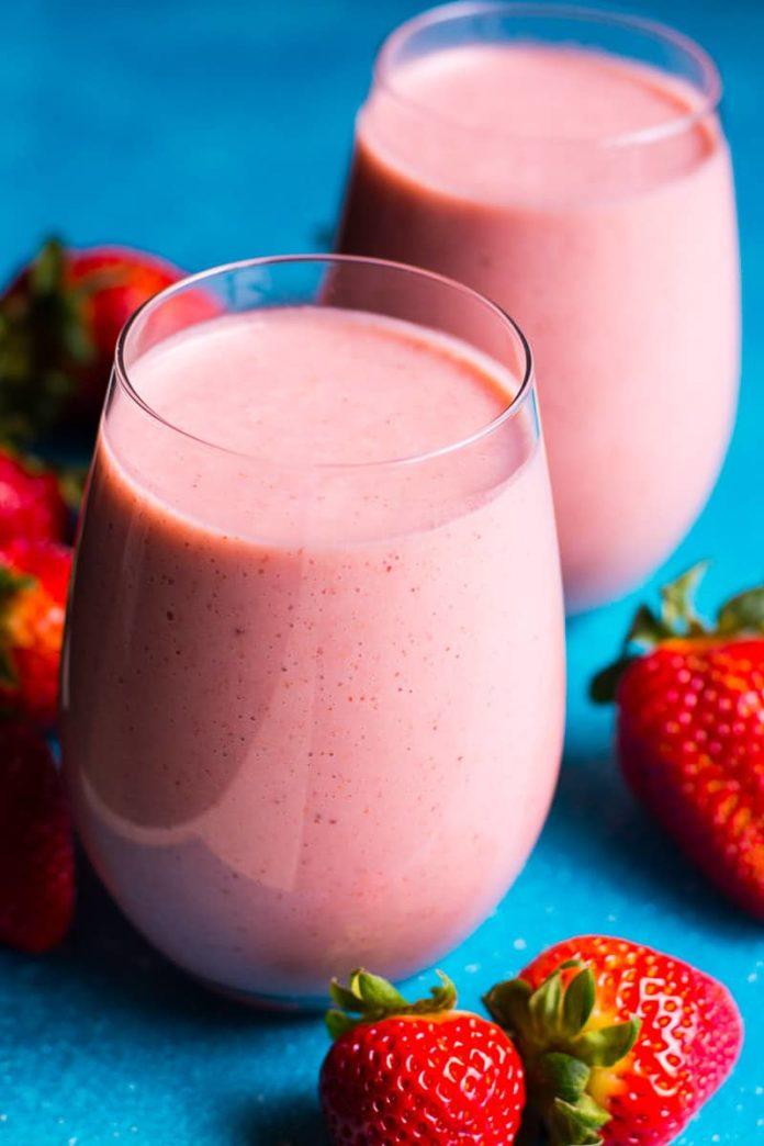Smoothie à la fraise au thermomix