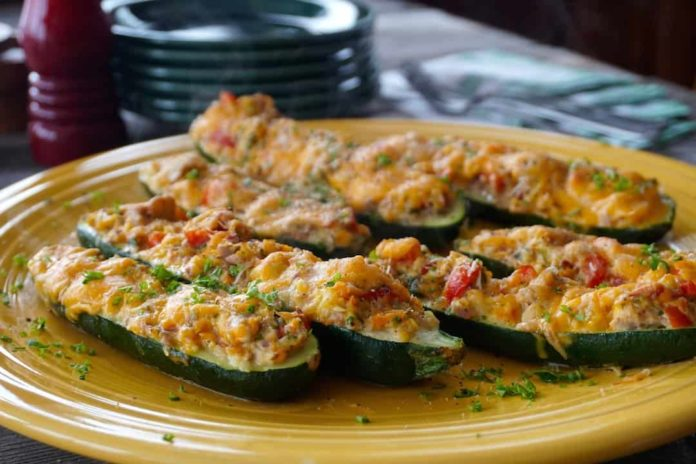 Courgettes Farcies au Thon Weight watchers
