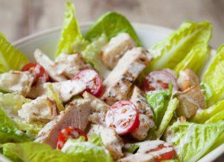 Salade césar au blanc de poulet Weight Watchers