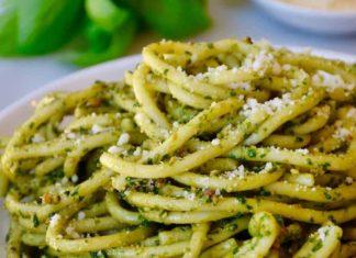 Spaghetti au pesto Thermomix