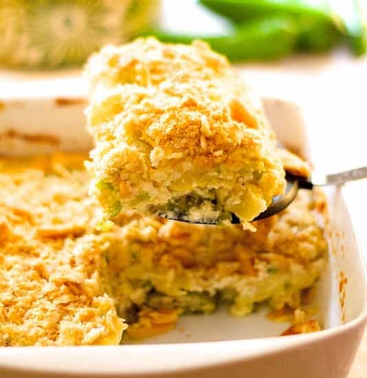 Crumble aux courgettes et au fromage Weight watchers