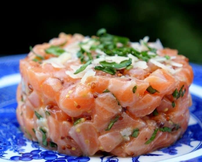 Le Tartare de saumon au Thermomix