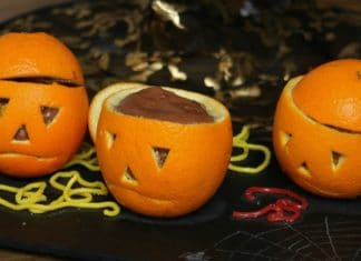 Oranges mousse au chocolat d'Halloween au Thermomix