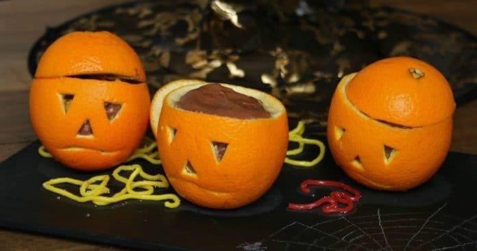 Oranges mousse au chocolat d'Halloween au Thermomix