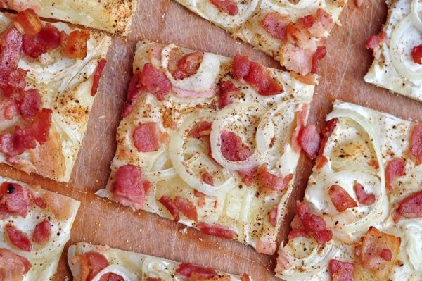 Pizza Flammekueche au Thermomix