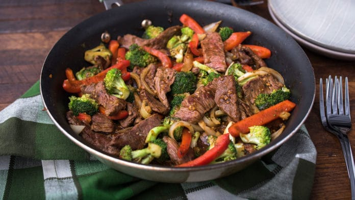 Wok au boeuf et légumes Weight watchers